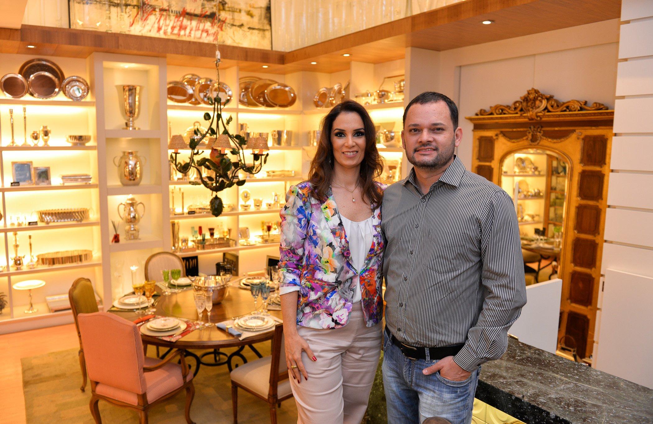 A empresária Cristiane Coelho e o empresário Luciano Coutinho