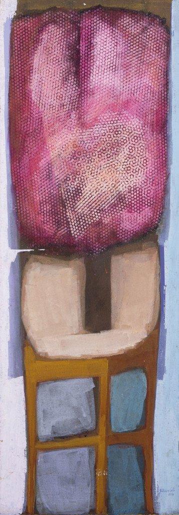 """""""Banco com Vaso"""" (1991): acrílico sobre tela de Glênio Bianchetti *Reprodução*"""