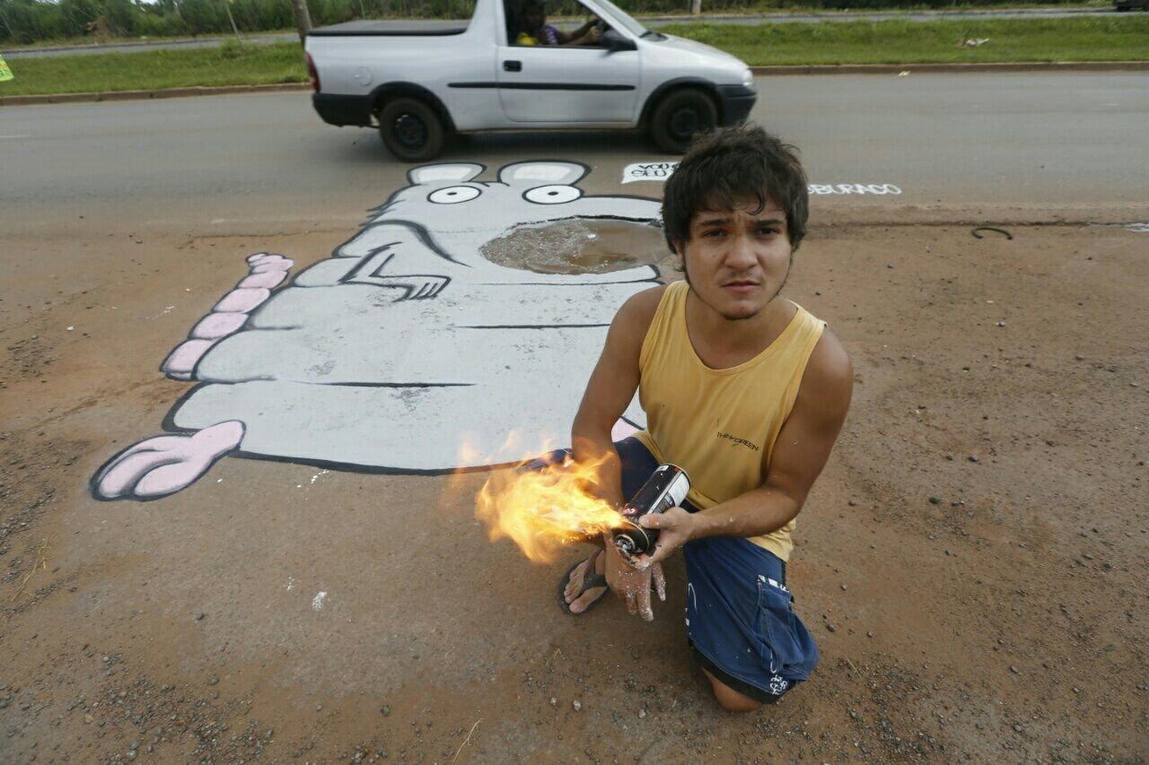Grafite do artista Rato em Sobradinho II
