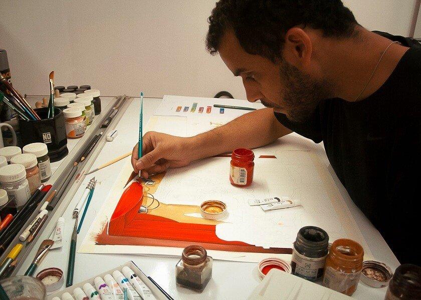 Em animação, o ilustrador Romont Willy reforça a cultura brasileira