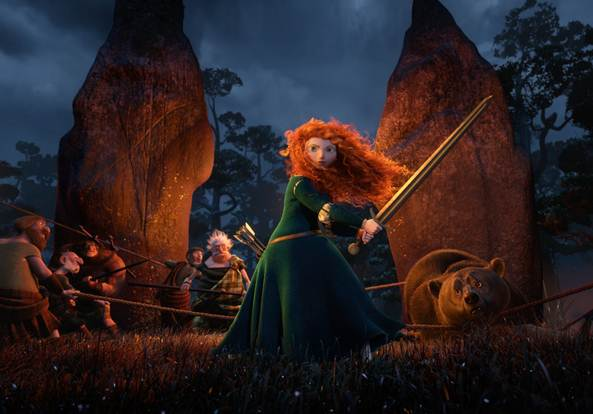 A scene from the film Brave