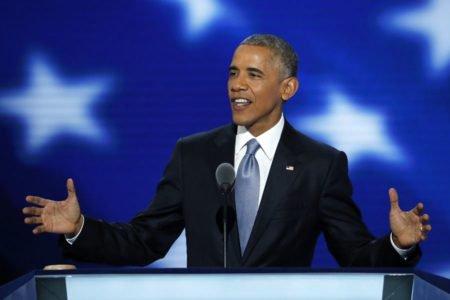 Obama na convenção democrata