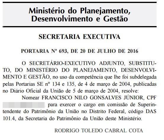 Reprodução/Diário Oficial da União