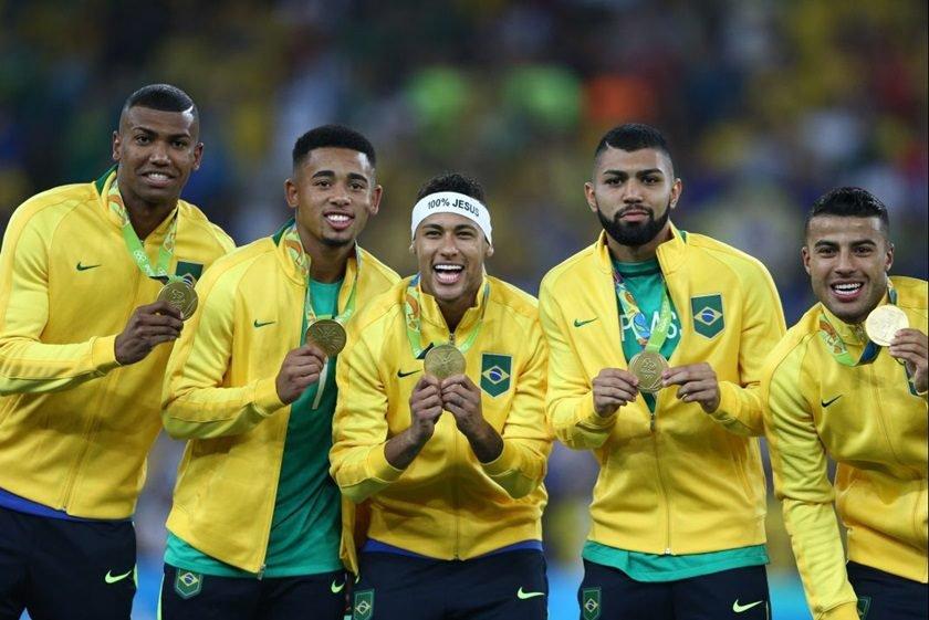 Resultado de imagem para brasil ouro olimpico futebol