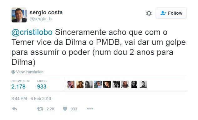 Sergio Costa tweet 01