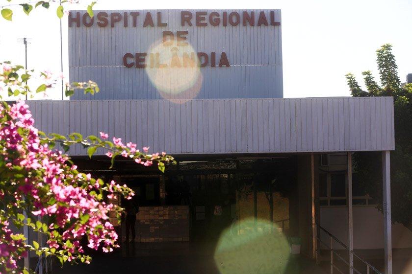 Entrada do Hospital Regional de Ceilândia