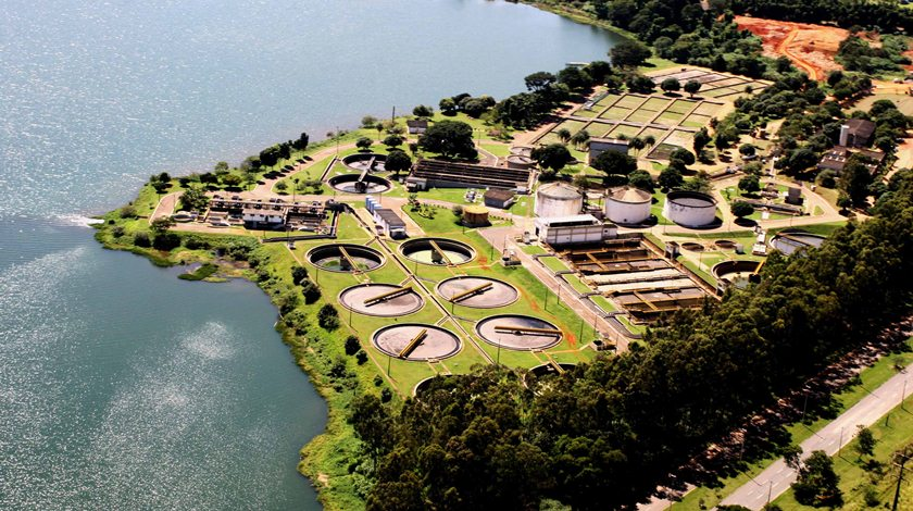 Estação de tratamento de esgoto da CAESB (ETE Norte)