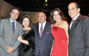 Brunilde Liviero com o marido e os três filhos