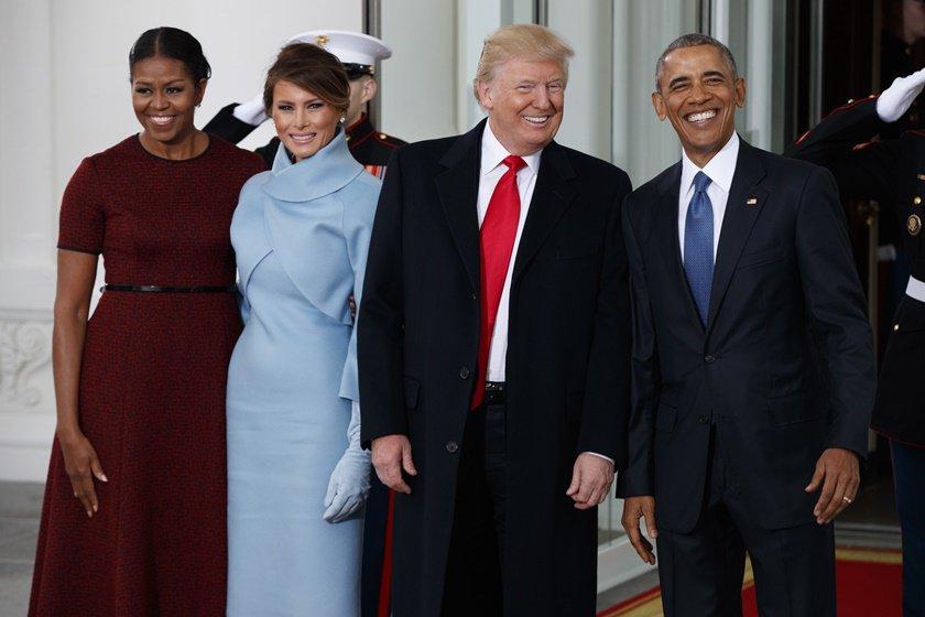 Michele Obama Barack Obama Donald Trump e Melania Trump
