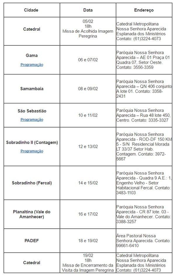 Reprodução/Arquidiocese de Brasília
