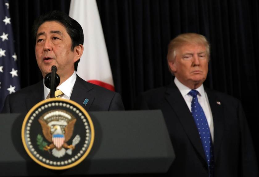 abe shinzo donald trump