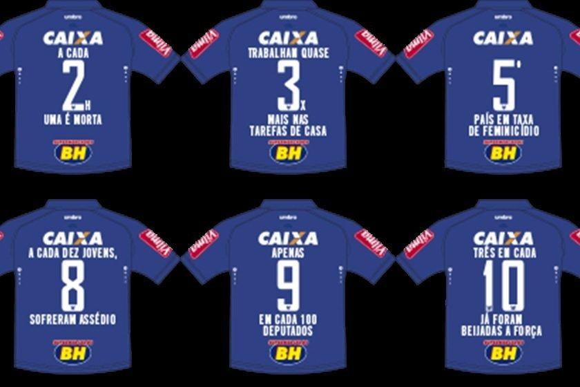 Cruzeiro joga com camisa condenando a violência contra a mulher 5362089fb4e85