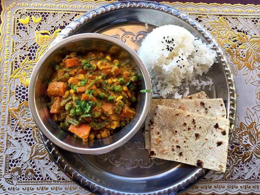 Indian House _- Curry de legumes (1)