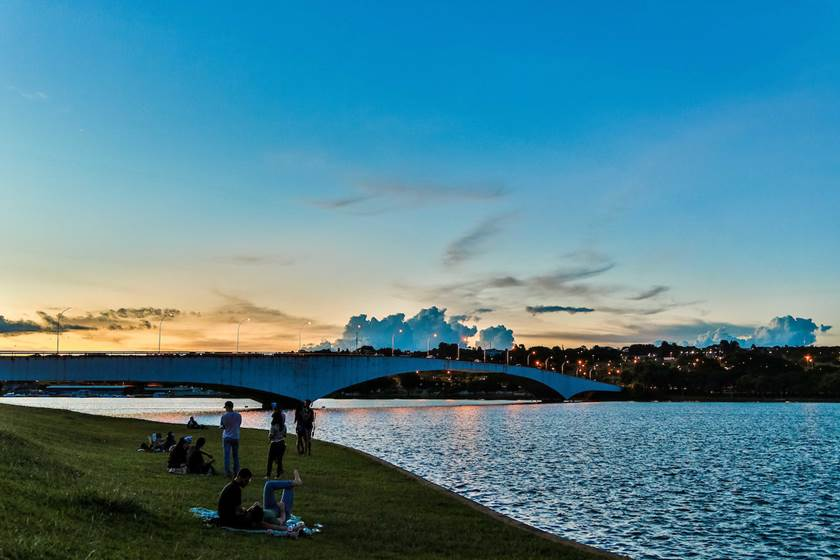 Brasília (DF), 01/03/2017  Por do Sol Local: Pontão do Lago Sul