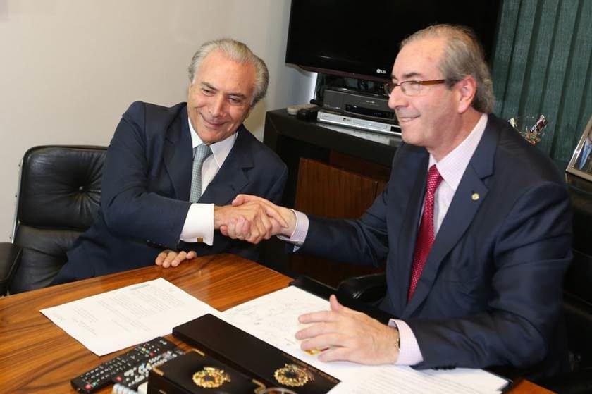 Eduardo Cunha presta depoimento na sede da PF em Curitiba