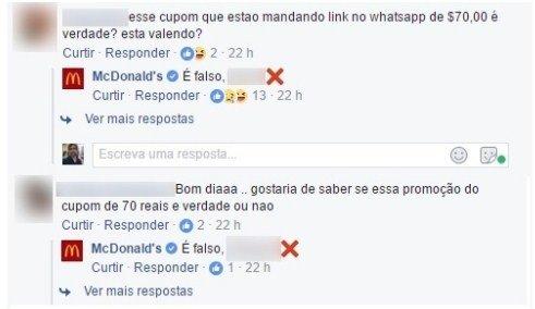 Golpe: falsa promoção do McDonald's no Whatsapp atinge 100 mil pessoas