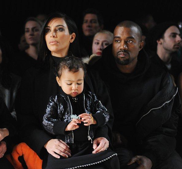 Kim Kardashian, North West and Kanye West
