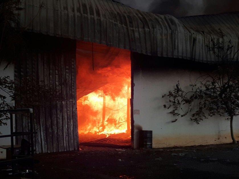 incêndio em galpão luziânia