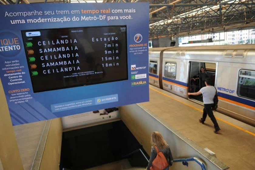 painel metrô tempo real - gabriel jabur agência brasília