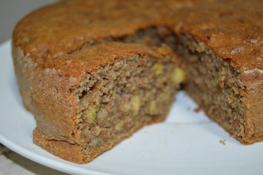 Torta de pão e banana