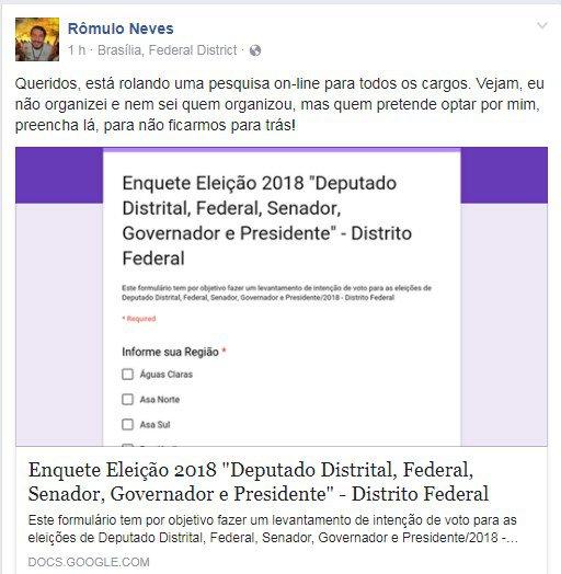 Reprodução/ Facebook
