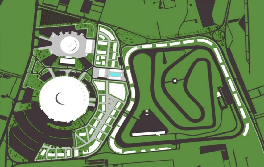 mapa projeto estádio