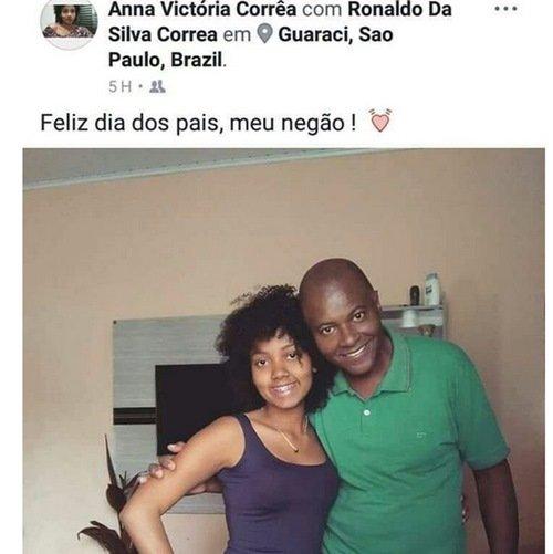 Garota é morta pelo pai minutos depois de postar homenagem a ele