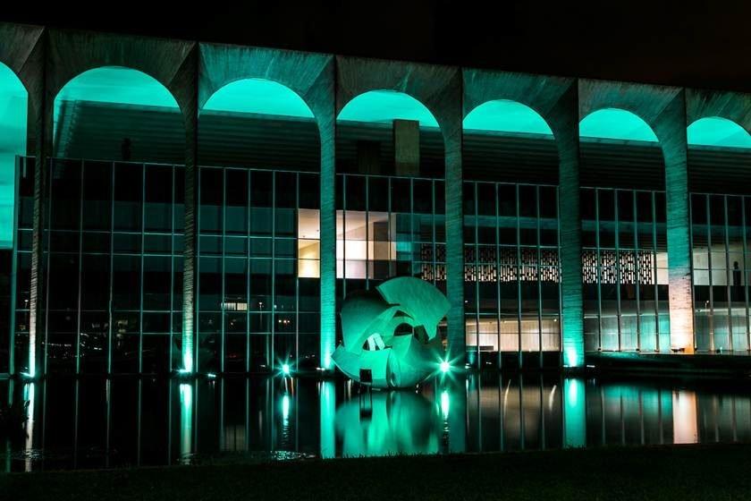 Vídeo mostra onça que circulou no Palácio do Itamaraty, em Brasília