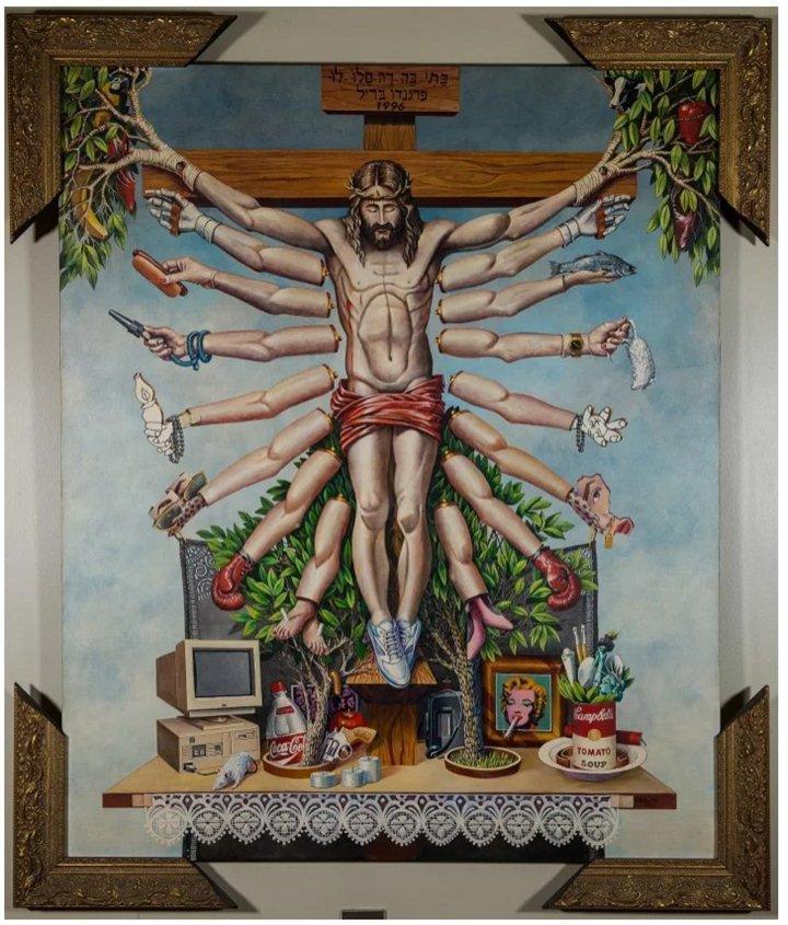 queermuseu fernando baril cruzando jesus cristo com deusa schiva 1996