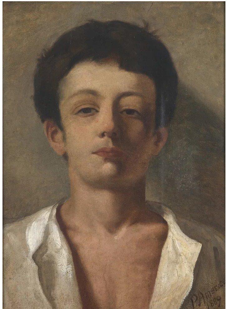 queermuseu 2 pedro americo busto de jovem 1889