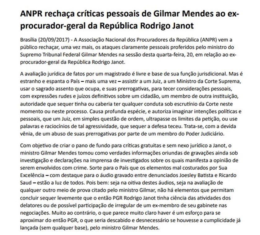 Gilmar Mendes vai analisar habeas corpus de Joesley Batista