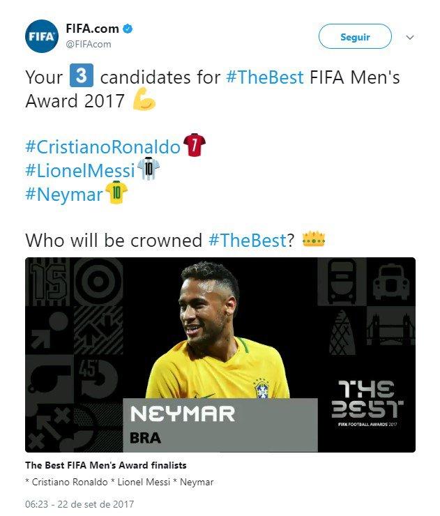 Fifa/Twitter/Reprodução