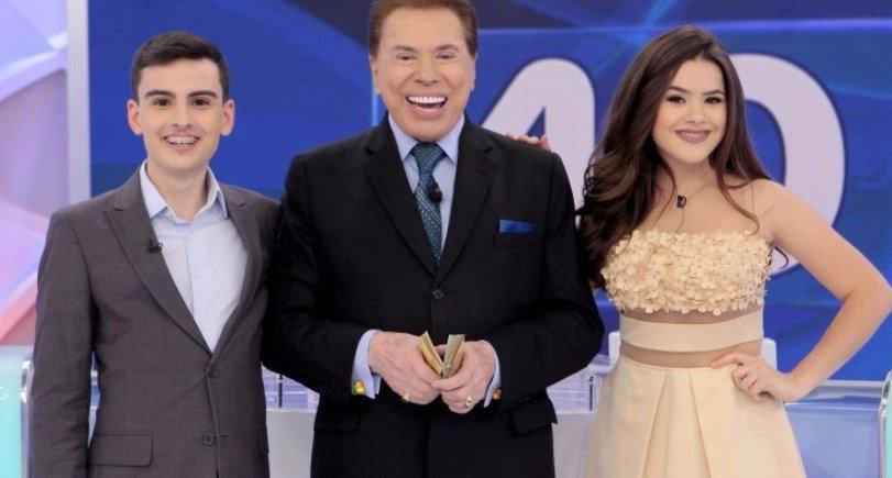 Silvio Santos, Maisa Silva e Dudu Camargo