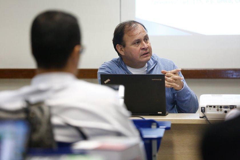 Juiz Vallisney de Souza durante aula na UnB - Brasília(DF), 27/09/2017