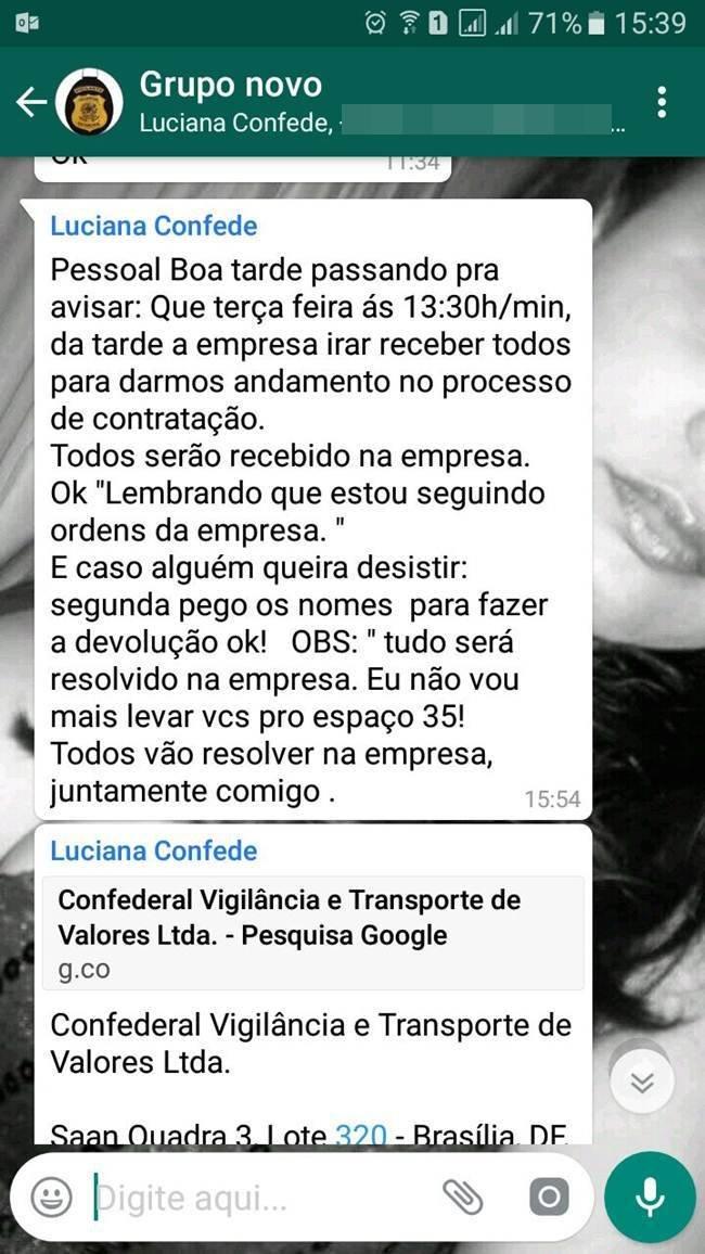 WhatsApp: Luciana Nunes de Lima