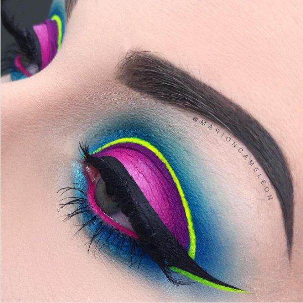 Excepcional Maquiagem neon bomba no Instagram e vira nova tendência GX15
