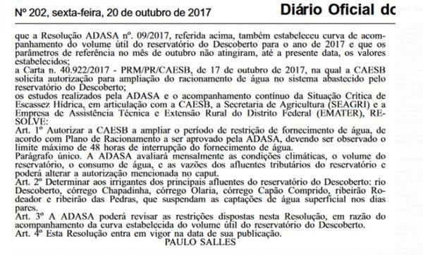 Reprodução/Diário OFicial do DF