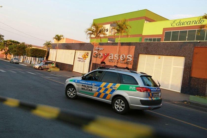 Aluno que atirou em colegas presta depoimento ao MP em Goiânia