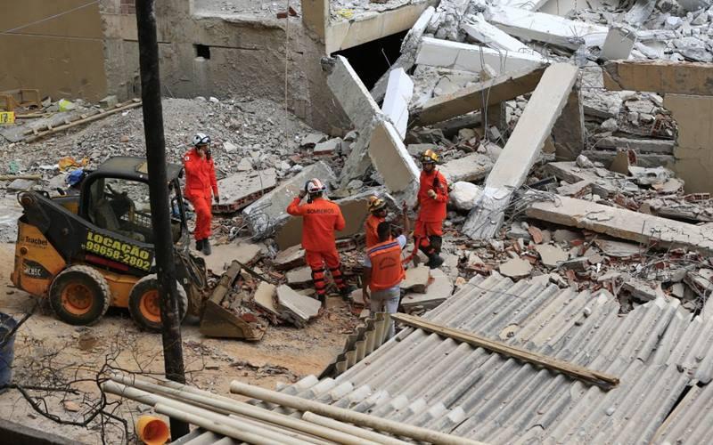 Desabamento de prédio em vicente pires