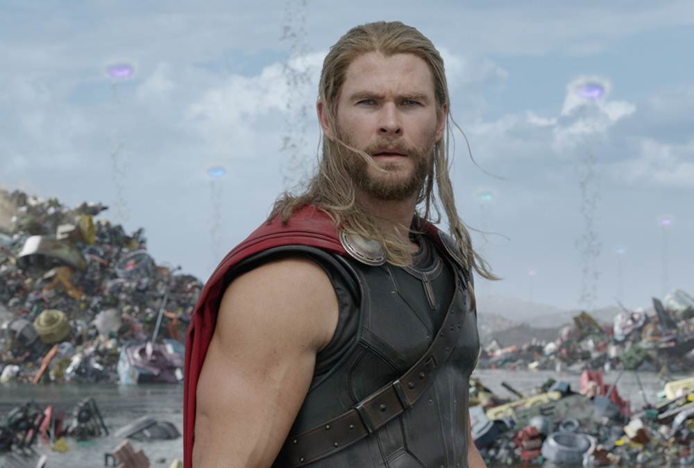 Thor (Chris Hemsworth) em Thor: Ragnarok