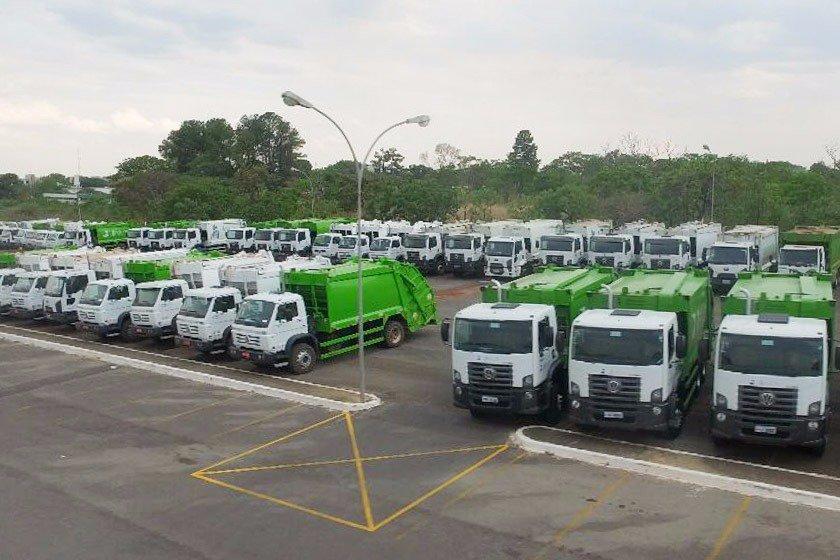 lixo caminhões da cavo