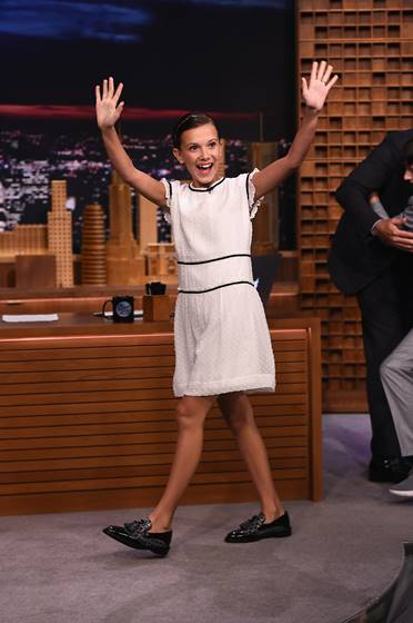 "Finn Wolfhard, Millie Bobby Brown, Gaten Matarazzo and Caleb McLaughlin Visit ""The Tonight Show Starring Jimmy Fallon"""