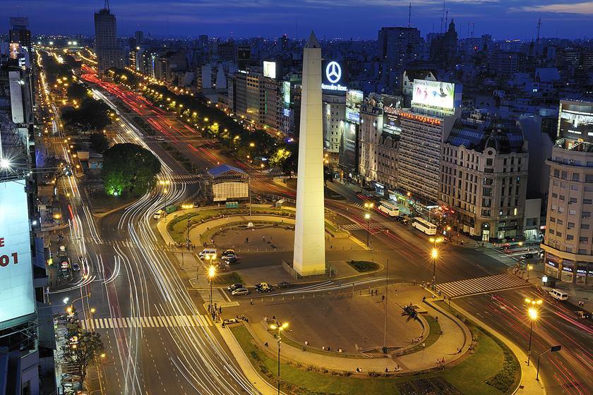 Obelisk and Avenue of 9 de Julio, Buenos Aires, Argentina
