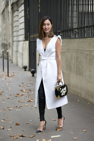 Layer-Leggings-Over-Long-Vest-Tied-Dress-Add-Unique-Spin