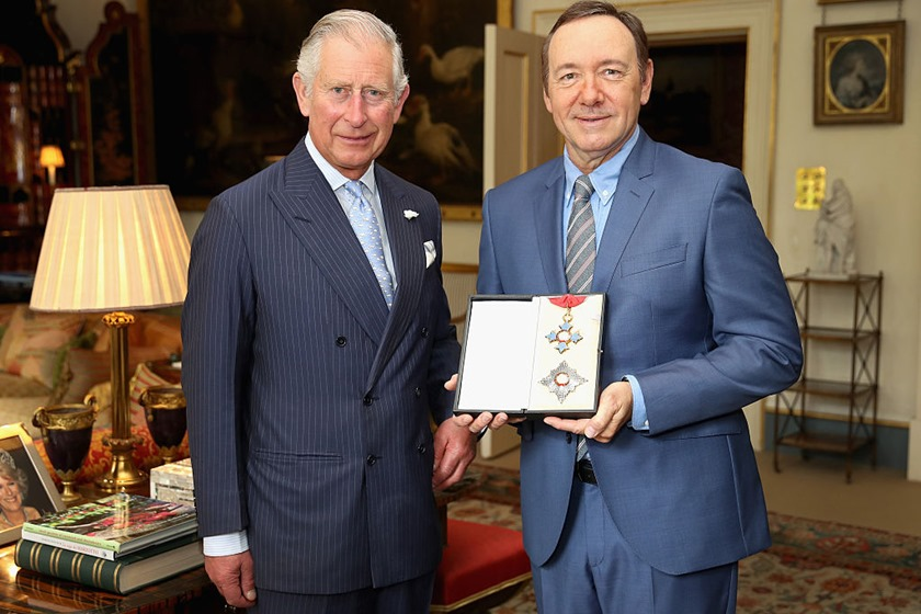 Kevin Spacey Receives Honorary Knighthood