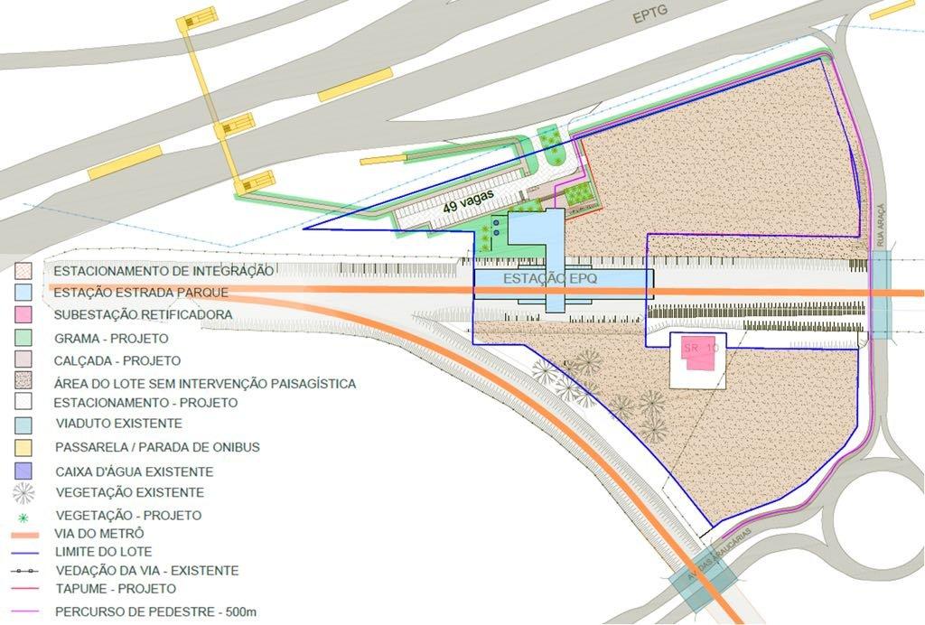 Estação Estrada Parque - mapa