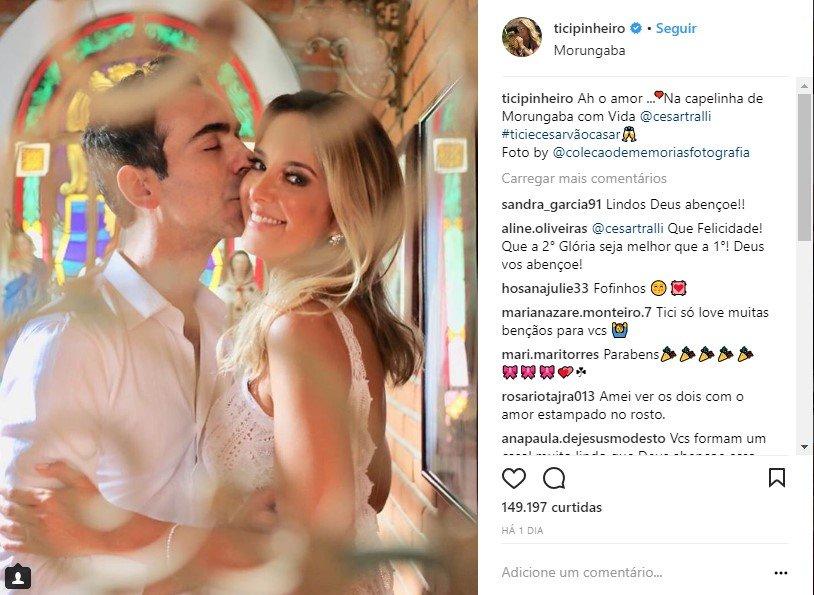 Em segredo, Ticiane Pinheiro e Cesar Tralli se casam no civil