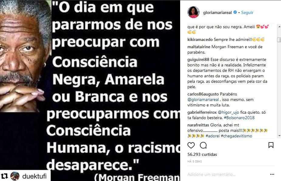 Glória Maria Causa Polêmica Com Post Sobre O Dia Da Consciência Negra