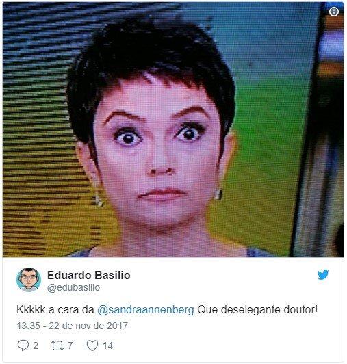 Choque de Sandra Annenberg após matéria no JH vira meme na web