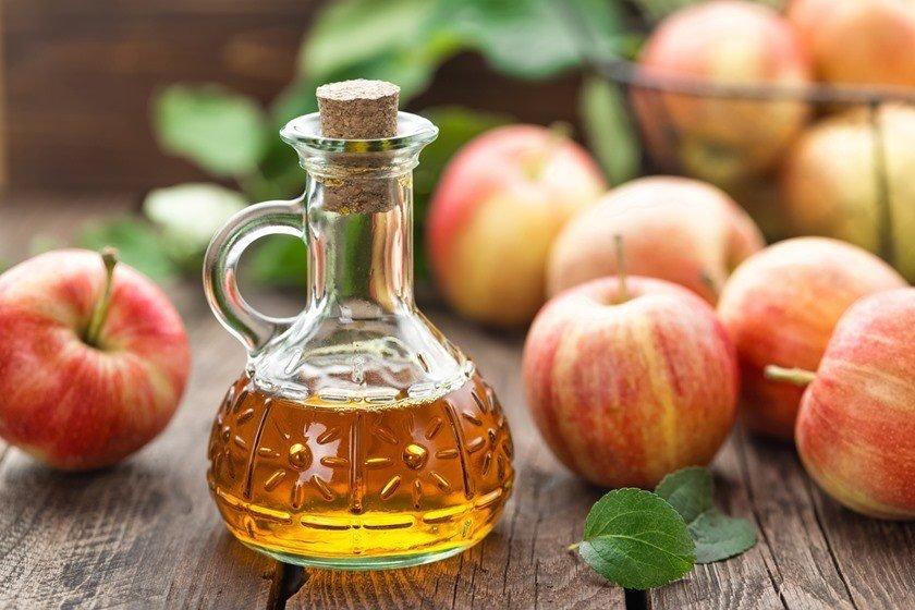 vinagre e maçãs